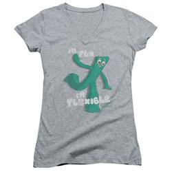 Gumby - Womens Flex V-Neck T-Shirt