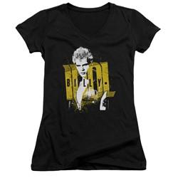 Billy Idol - Womens Brash V-Neck T-Shirt