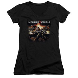 Infinite Crisis - Womens Batmen V-Neck T-Shirt