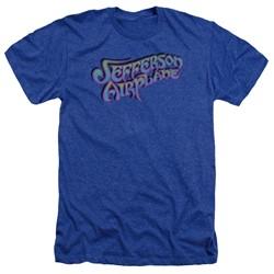 Jefferson Airplane - Mens Gradient Logo Heather T-Shirt
