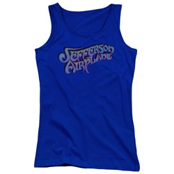 Jefferson Airplane - Juniors Gradient Logo Tank Top