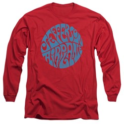 Jefferson Airplane - Mens Round Logo Long Sleeve T-Shirt