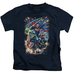 Justice League - Little Boys Under Attack T-Shirt