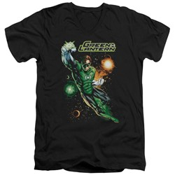 Justice League - Mens Galactic Guardian V-Neck T-Shirt