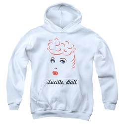 Lucille Ball - Youth Drawing Pullover Hoodie