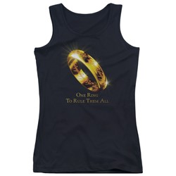 Lord Of The Rings - Juniors One Ring Tank Top