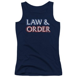 Law&Order - Juniors Logo Tank Top