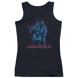 Airwolf - Juniors Graphic Tank Top