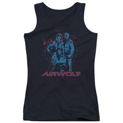 Airwolf - Juniors Graphic Tank Top