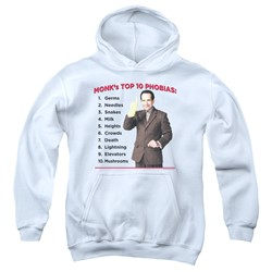 Monk - Youth Top 10 Phobias Pullover Hoodie