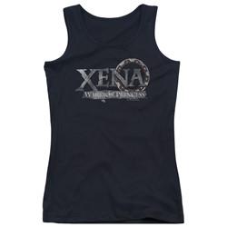 Xena: Warrior Princess - Juniors Battered Logo Tank Top