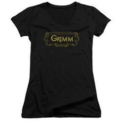 Grimm - Womens Plaque Logo V-Neck T-Shirt