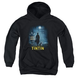 Tintin - Youth Title Poster Pullover Hoodie