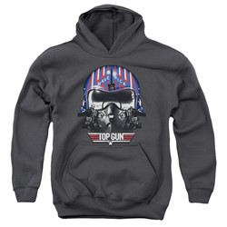 Top Gun - Youth Maverick Helmet Pullover Hoodie