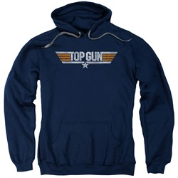 Top Gun - Mens Distressed Logo Pullover Hoodie