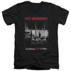 Pet Semetary - Mens Cat Poster V-Neck T-Shirt