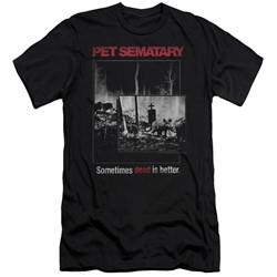 Pet Semetary - Mens Cat Poster Slim Fit T-Shirt