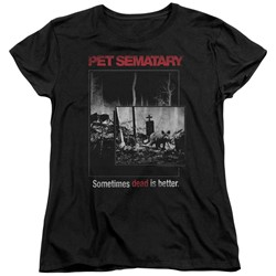 Pet Semetary - Womens Cat Poster T-Shirt
