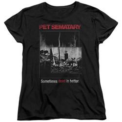 Pet Semetary - Womens Cat Poster T-Shirt