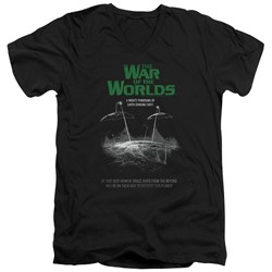 War Of The Worlds - Mens Attack Poster V-Neck T-Shirt