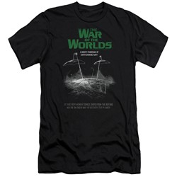 War Of The Worlds - Mens Attack Poster Slim Fit T-Shirt