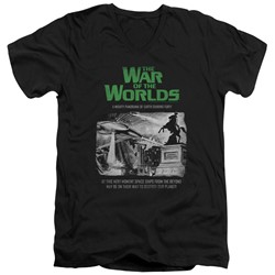 War Of The Worlds - Mens Attack People Poster V-Neck T-Shirt