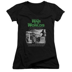 War Of The Worlds - Womens Attack People Poster V-Neck T-Shirt