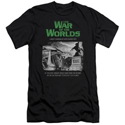 War Of The Worlds - Mens Attack People Poster Slim Fit T-Shirt