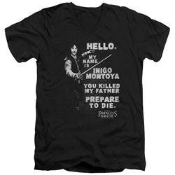 Princess Bride - Mens Hello Again V-Neck T-Shirt