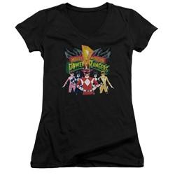 Power Rangers - Womens Rangers Unite V-Neck T-Shirt