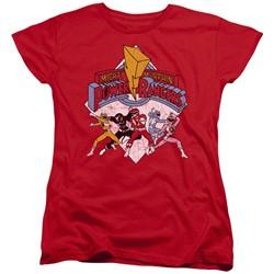 Power Rangers - Womens Retro Rangers T-Shirt