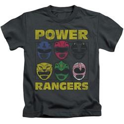 Power Rangers - Youth Ranger Heads T-Shirt