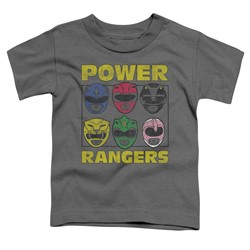 Power Rangers - Toddlers Ranger Heads T-Shirt