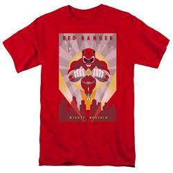 Power Rangers - Mens Red Deco T-Shirt