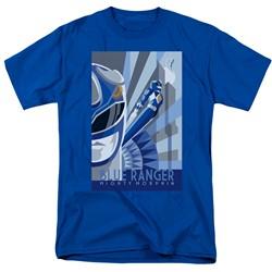 Power Rangers - Mens Blue Ranger Deco T-Shirt