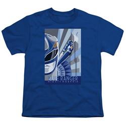 Power Rangers - Big Boys Blue Ranger Deco T-Shirt