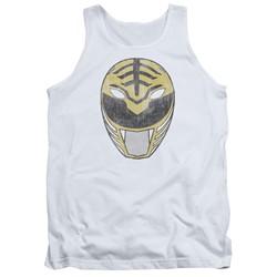 Power Rangers - Mens White Ranger Mask Tank Top