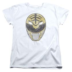 Power Rangers - Womens White Ranger Mask T-Shirt