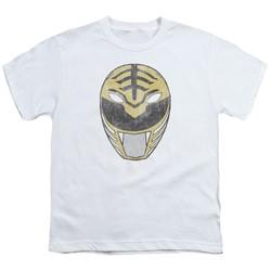 Power Rangers - Big Boys White Ranger Mask T-Shirt