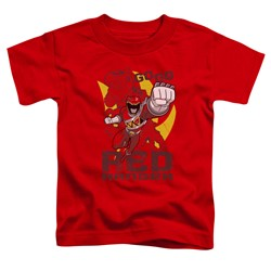 Power Rangers - Toddlers Go Red T-Shirt
