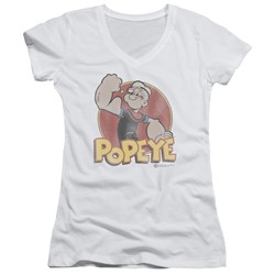 Popeye - Womens Retro Ring V-Neck T-Shirt