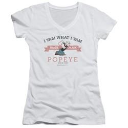 Popeye - Womens Vintage V-Neck T-Shirt