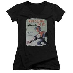 Popeye - Womens Hard Work V-Neck T-Shirt