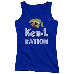 Ken L Ration - Juniors Distressed Logo Tank Top