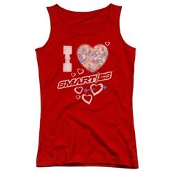Smarties - Juniors I Heart Smarties Tank Top