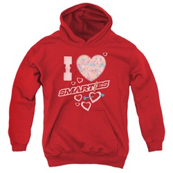 Smarties - Youth I Heart Smarties Pullover Hoodie
