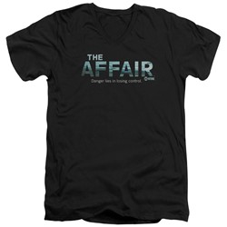 The Affair - Mens Ocean Logo V-Neck T-Shirt