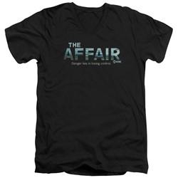 The Affair - Mens Ocean Logo V-Neck T-Shirt
