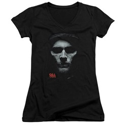 Sons Of Anarchy - Womens Skull Face V-Neck T-Shirt