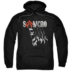 Sons Of Anarchy - Mens Rip Through Pullover Hoodie